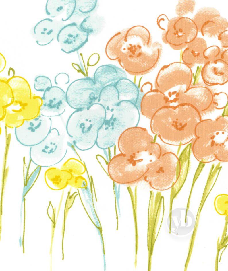 Poppy Lemon Border Print