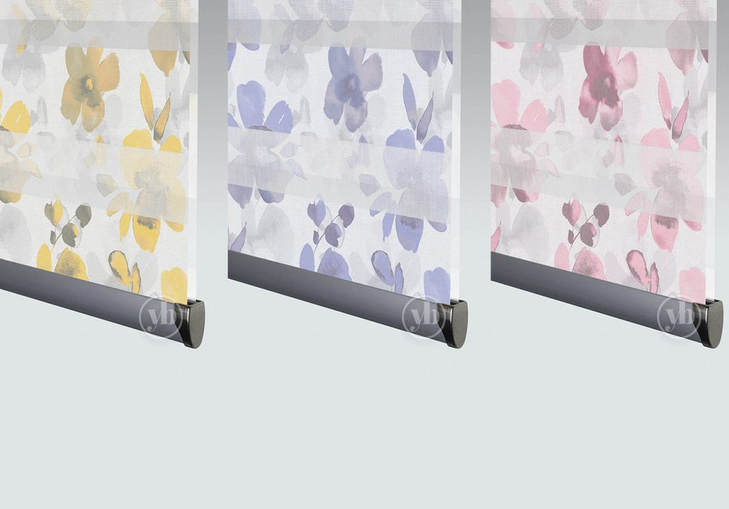 Floral pattern senses mirage blinds