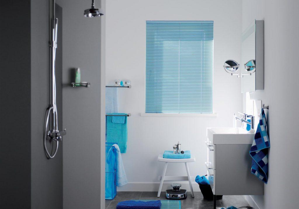 Blue Aluminium Venetian Blind