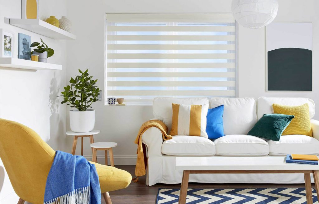 Day and Night Blinds white interior