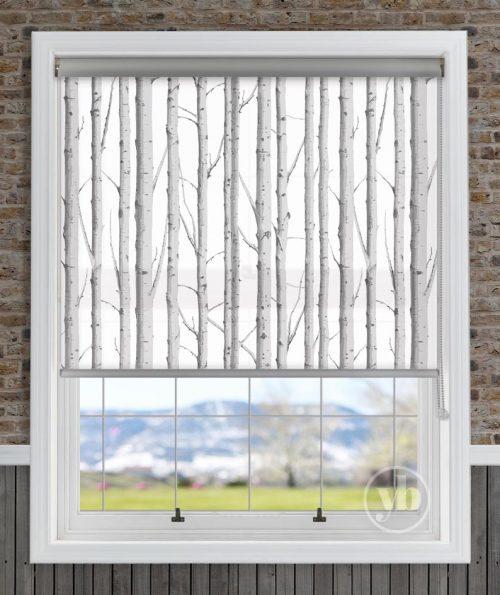 Woodland silver Senses Roller Blind